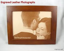 3rd wedding anniversary gift ideas 3rd wedding anniversary gift photo engraved in real leather