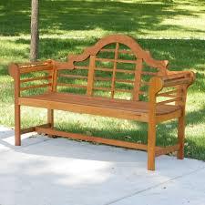 achla designs lutyens 54 in black eucalyptus bench hayneedle