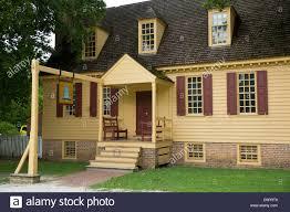 historic home at colonial williamsburg virginia usa stock photo