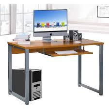 Beech Computer Desk large rectangular computer desk office desk with keyboard tray