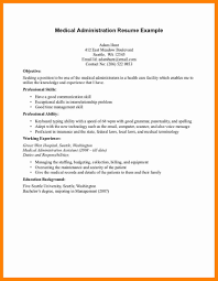 sle resume administrative assistant hospital resumes for teachers health administration resume exles of resumes medical