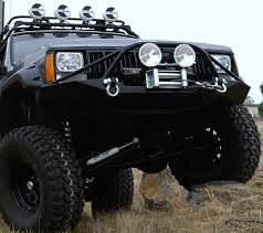 2000 jeep bumpers jeep xj front winch bumper w pre runner 84 01