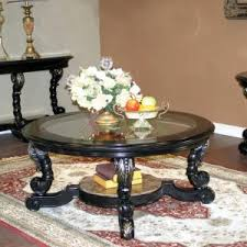 round coffee table and end tables furniture oval coffee table set matching console and end tables