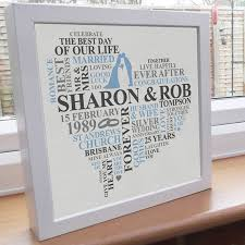 25th wedding anniversary gift personalised print silver anniversary word by alichappelluk