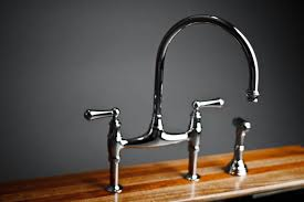 Bridge Faucet For Kitchen Faucets Kitchen Bridge Faucet With Pull Sprayer Spray Side