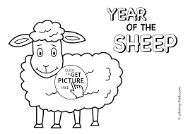 year of sheep coloring pages for kids chinese new year coloring