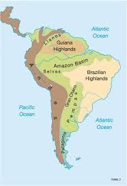 america map mountains maps south america physical map diercke international atlas