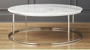 large round cocktail table smart large round marble top coffee table reviews cb2