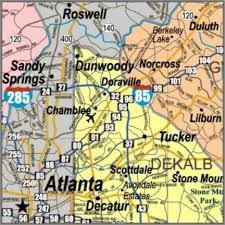 county map ga large wall map detailed for business with color counties