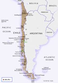 Atacama Desert Map Introduction To Chile