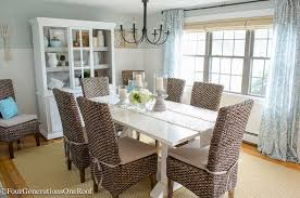 Coastal Dining Room Sets Dining Room Makeover Coastal Four Generations One Roof