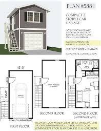 2 story garage plans 1 car 2 story garage apartment plan 588 1 12 3 x 24 stairbehm