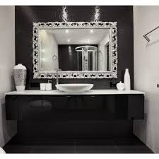 Bathroom Mirrors Framed by Bathroom Cabinets Frameless Mirror Mirror Borders Contemporary