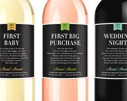 Wine Wedding Gift Bridal Shower Wine Poem Wedding Firsts Wine Gift Sets