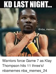 Game 7 Memes - kd last night memes warriors force game 7 as klay thompson hits 11