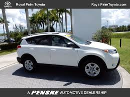 used toyota 2013 used toyota rav4 fwd 4dr le at royal palm mazda serving palm