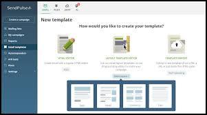 drag and drop email builder for html emails sendpulse