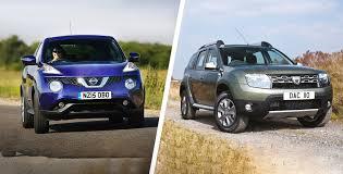 nissan qashqai vs juke nissan juke vs dacia duster u2013 budget suv battle carwow