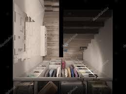 stanza guardaroba visualizzazione 3d della stanza guardaroba in toni chiari foto