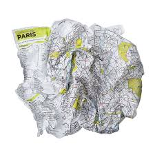 City Maps Crumpled City Maps Travel Guide Backpack Europe City New