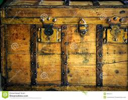wooden trunk old wooden chest trunk in golden color royalty free stock