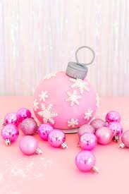 diy pink ornament cake