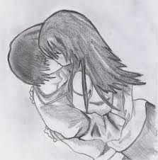 sad drawings of boys and girls in love drawing of sketch