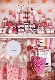 baby girl birthday ideas pastel pink baby shower candy buffet ideas baby girl birthday