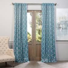 exclusive fabrics seville print blackout curtain panel pair grey 84l size 50 x 84 polyester geometric