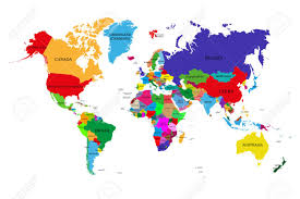 world map political with country names free colored political world map with names of sovereign countries