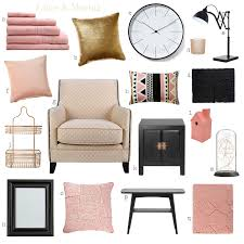 Pink Black Bedroom Decor by Lime U0026 Mortar Colour Pop Pink Gold U0026 Black Girls Room Ideas