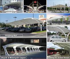 Metal Car Awning Parking Shed Canopy For Sale Membrane Carport Supplier Sunshield