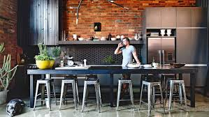 Industrial House Kitchen Wallpaper High Resolution Cool Industrial Home Exposed