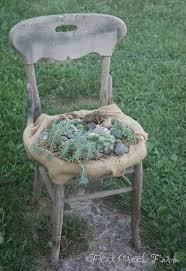 how to recycle garden decorations of recycled chairs and benches