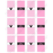 minnie mouse light pink printable mini candy bar wrappers