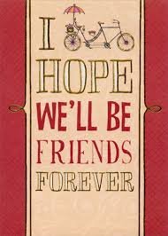 day cards for friends be friends forever handmade keepsake s day card by