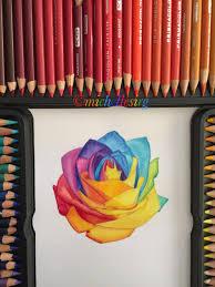 prisma color pencils rainbow drawing artsy artist artwork creative
