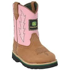 s deere boots sale deere toddler wellington cowboy boot brown pink jd1185