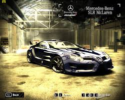 mercedes mclaren need for speed most wanted mercedes benz slr mclaren pro tuned