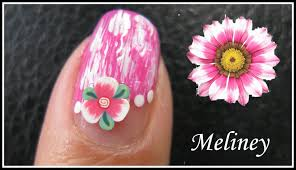 summer flower nails fimo nail art design tutorial for beginners