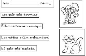 imagenes para colorear y escribir oraciones oracion para niños de preescolar imagui
