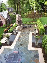 Best Paver Patios Images On Pinterest Garden Ideas Backyard - Backyard stone patio designs