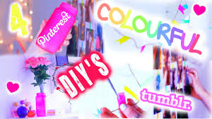diy u0026 pinterest inspired colourful bedroom decor youtube