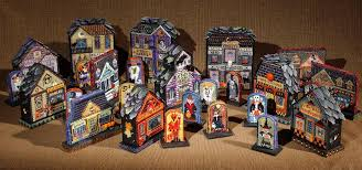 halloween village ang american needlepoint guild what is needlepoint 2005