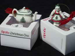 spode tree pattern china ornaments teapot and doll