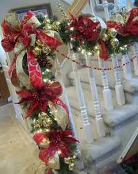 How To Decorate Banister With Garland Christmas Decorator 2 Mantels Mantels Decor And Christmas
