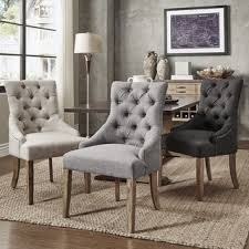 Awesome Dining Room Fabric Chairs Contemporary Room Design Ideas - Grey fabric dining room chairs