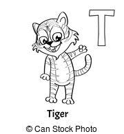 monster alphabet coloring pages letter t clip art vector search
