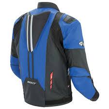 mens black leather motorcycle jacket joe rocket u0027radar u0027 mens blue black leather motorcycle jacket