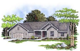 ranch house plan with country porch 8953ah architectural